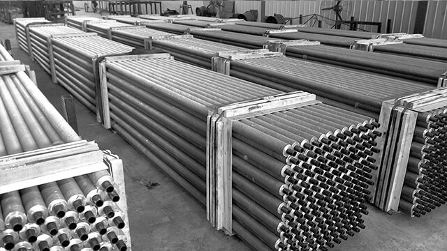 Principle of high frequency welding finned tube